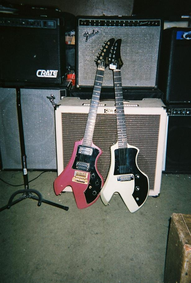 two butt-ugly Gibson losers from the '80's