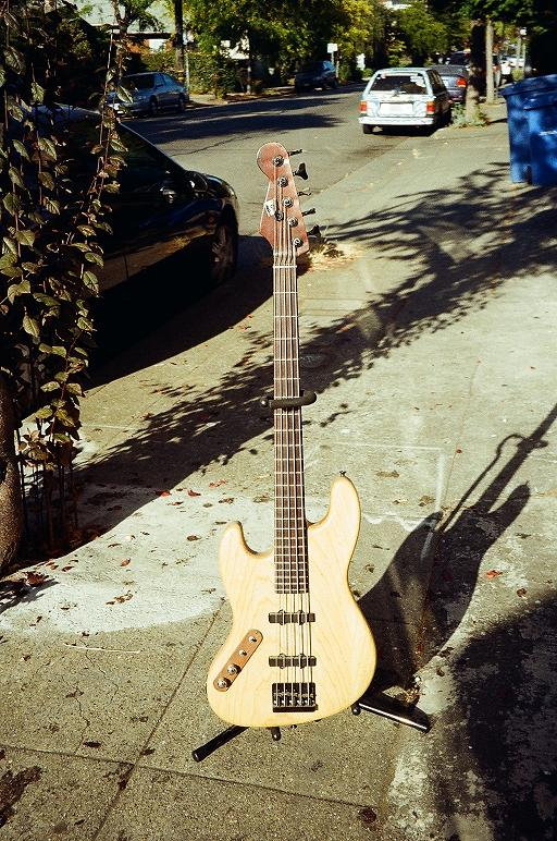 Sub custom lefty 5 string J-bass w' solid rosewood neck