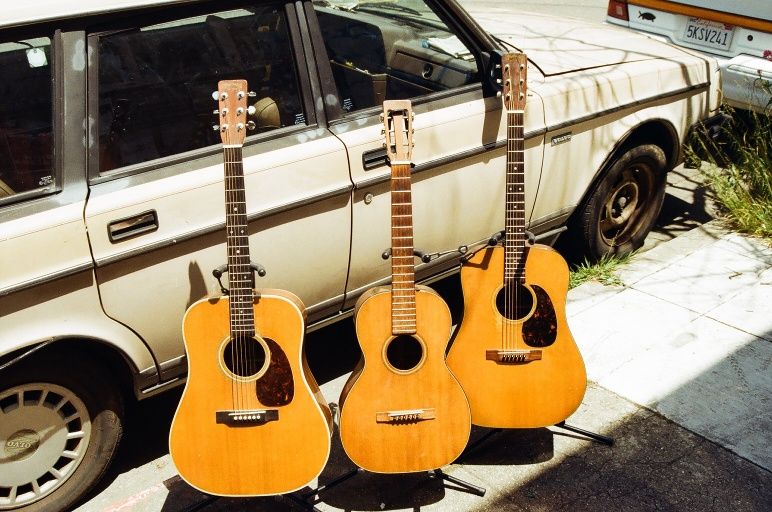 The 'Family,' not Gaudi, but by CF Martin: 1961 Martin D-28, 1963 Martin 016 NY, 1965 Martin D-21