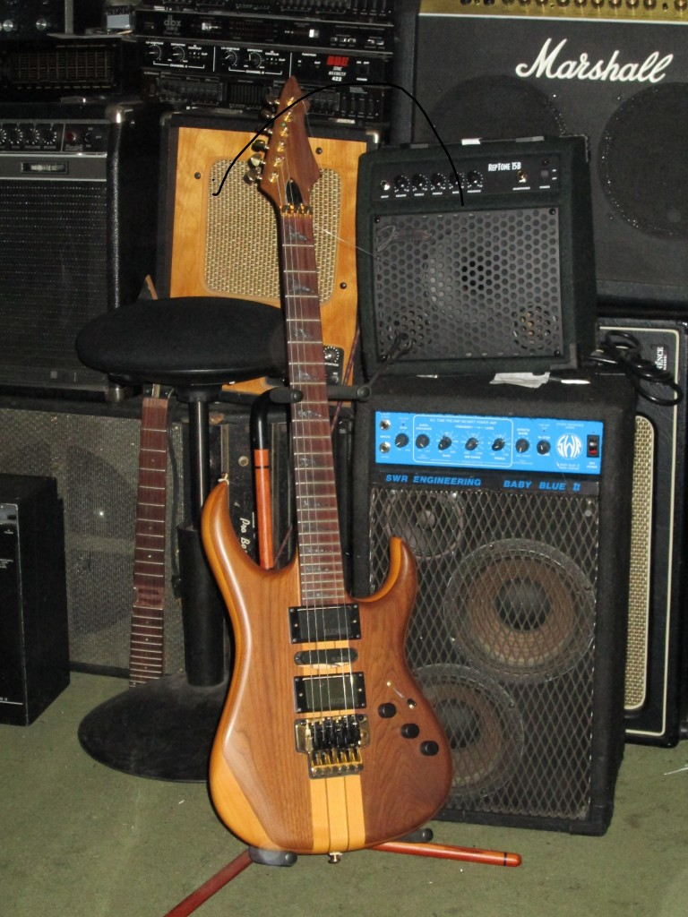 Subway neck-thru x-tra facy wanker with Floyd, Alembic Pups and Bartolini preamp $900