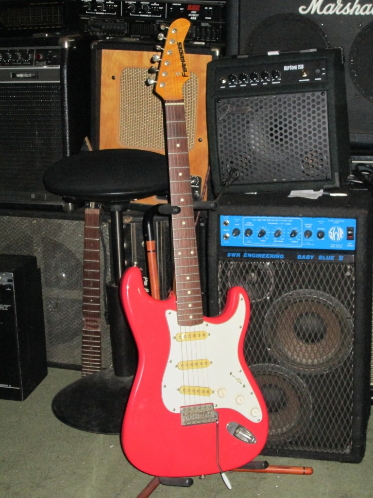 MIJ Fernandez strat fiesta red-orange $400