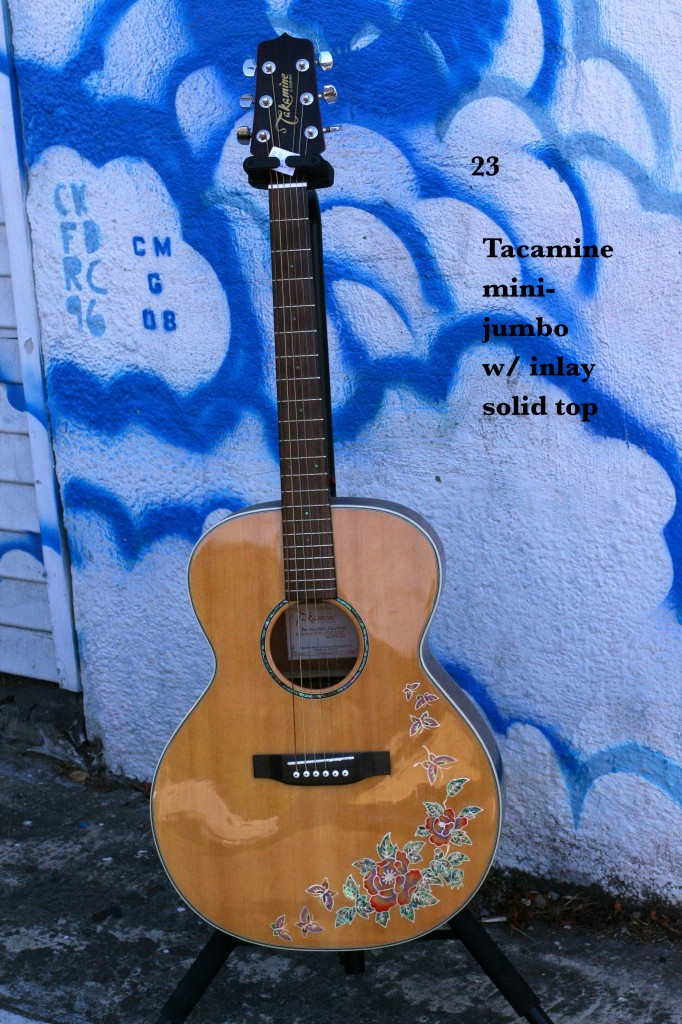 Takamine mini-jumbo w' inlay, solid top
