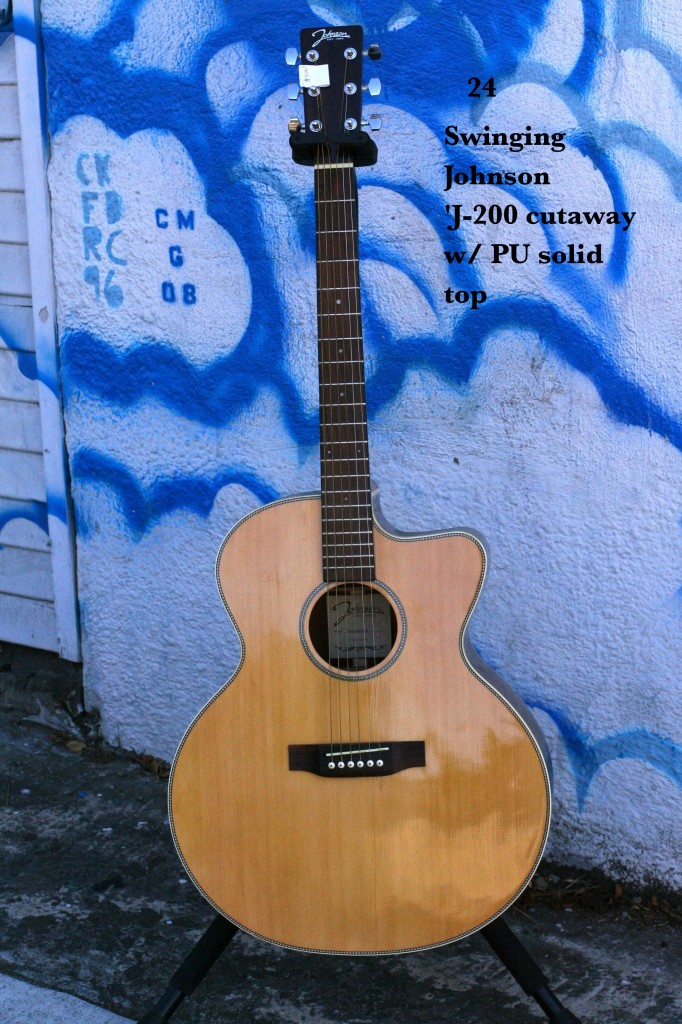 Swinging Johnson J-200 cutaway w/PU & solid top