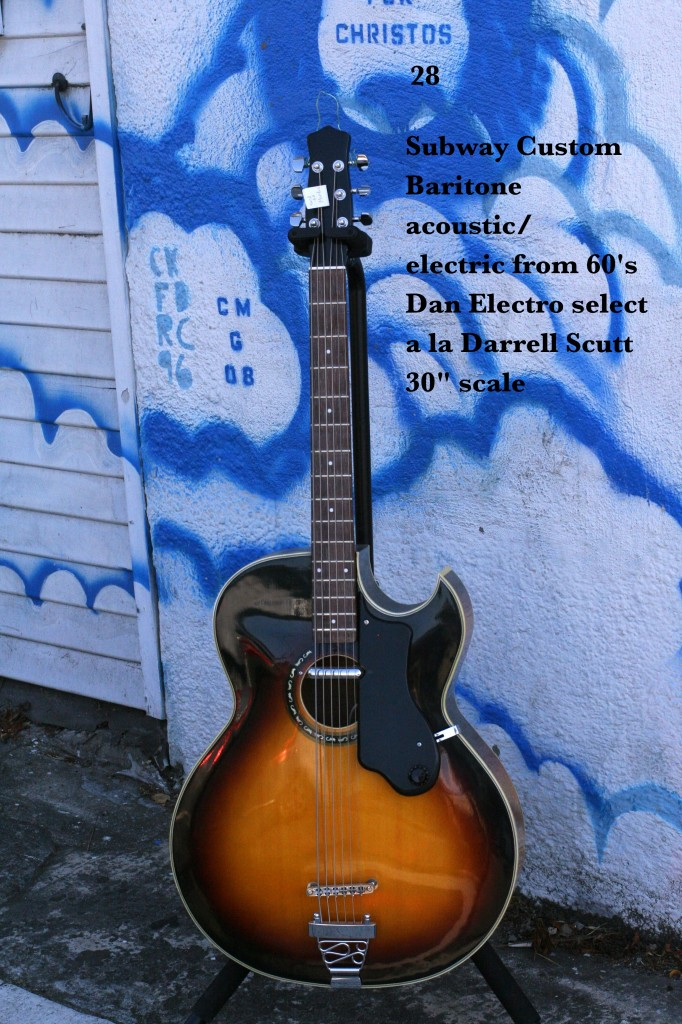 "Subway Custom Baritone acoustic/electric '60's Dan Electro select a la Darrell Scott 30"" scale"