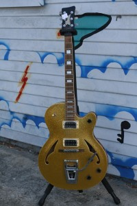 "Italia 50's rockabilly Elvis The Pelvis style w' ""Bigsby"" $600"