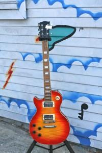 Lefty Les Paul Flame Maple Top, set neck $300