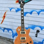 Stellar Les Paul, solid flame top, set neck, $300