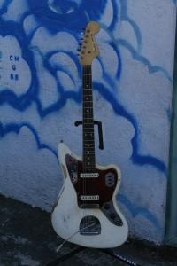 Chewed up 1965 Fender Jaguar !seems original!