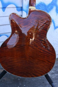 Eastman L-5 All Carved, w' Pickup (back view) (woof!)