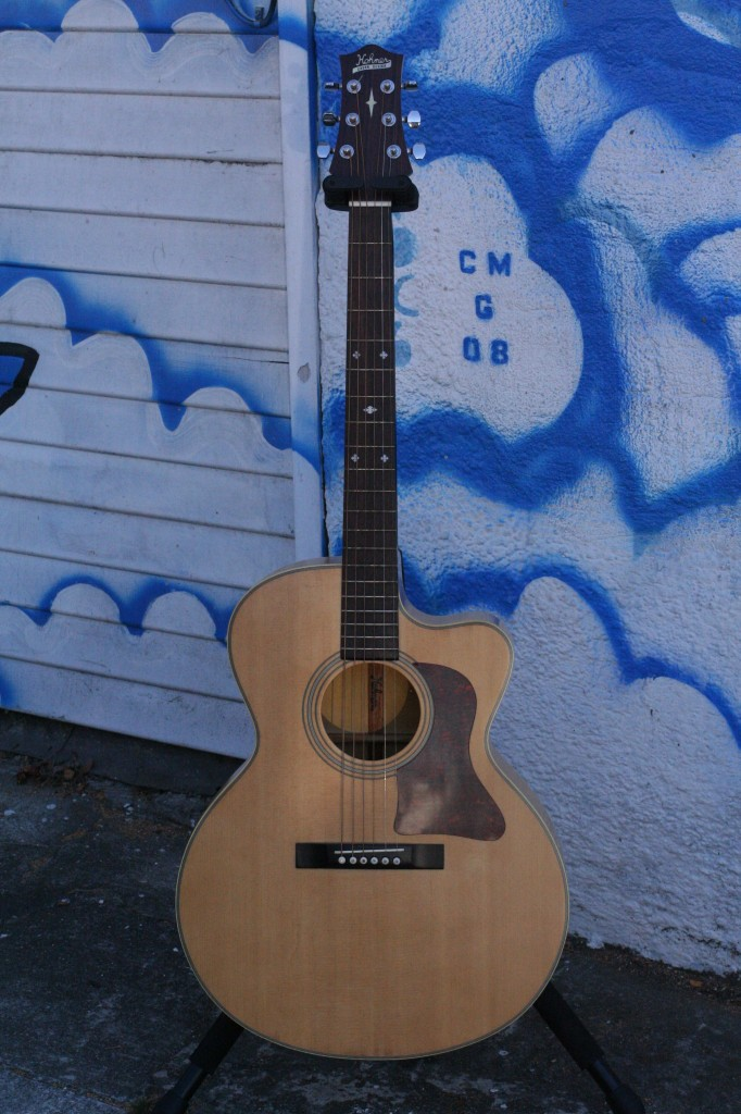 000 Cutaway Gruhn Design Solid Top NOS $500