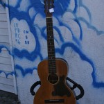 Regal 1920s spruce top, reset neck, cool pickguard, $500