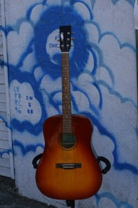 "Morrell ""D-18"" ruby-burst solid spruce top $250"