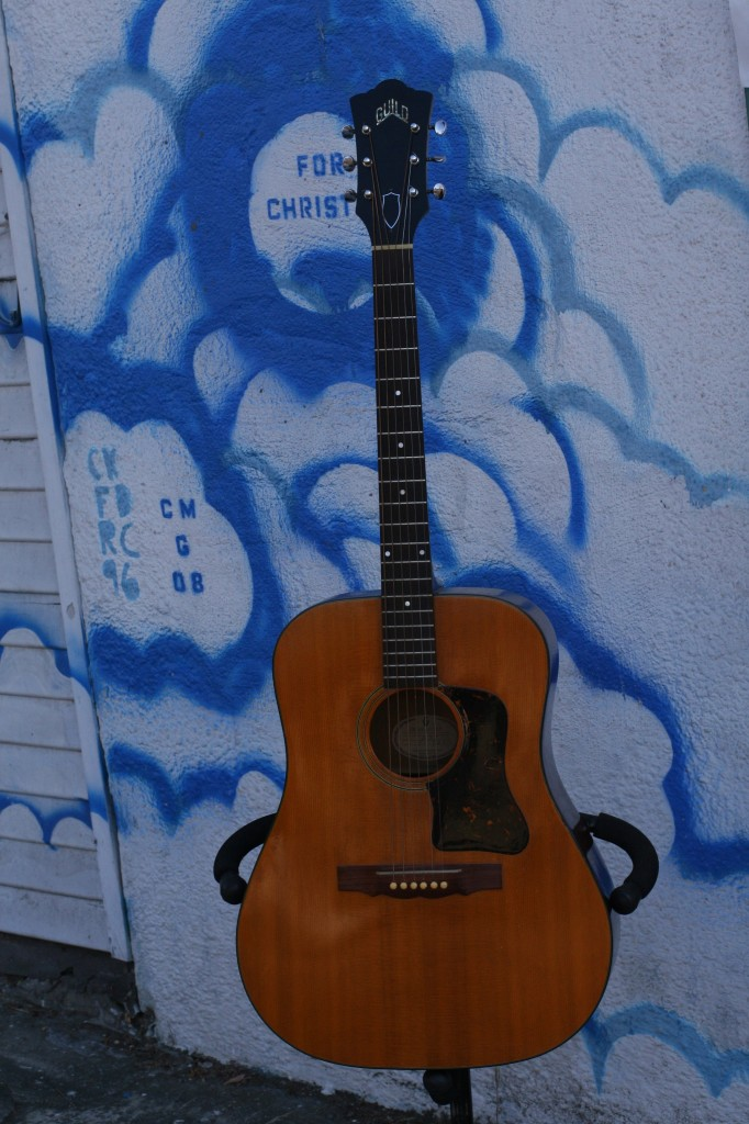 1960s Guild D-35 old German bridge