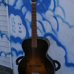 1950s Harmony f-hole reset neck w' high angle to drive top $350