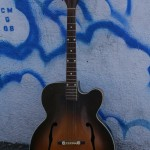 "Kay 1950s 17"" ""L-7"" solid top, reset neck w'pickup $900"