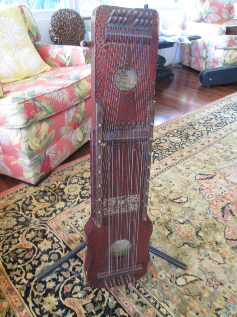 Crazy 1920s Hawaiian zither-violin $300