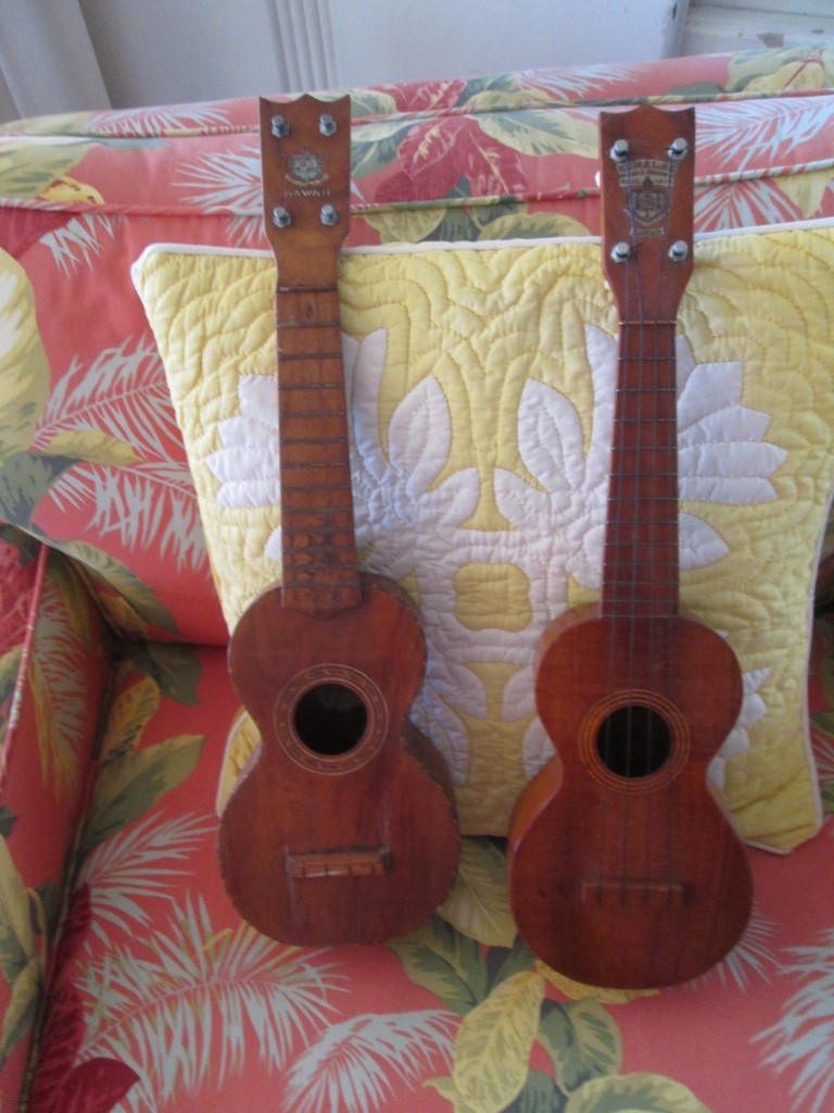 two Hawaiian Kumala rope-bound ukuleles circa 1920 $1000 each