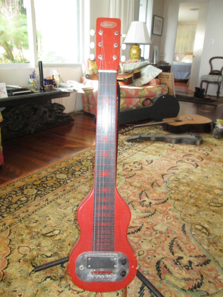 '50s red Supro Lap Steel serial 219611 $500
