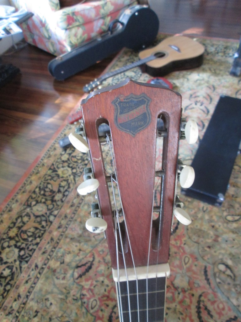 National Tricone Style 2 circa 1928 serial 2074 square neck w' rose engraving $4200