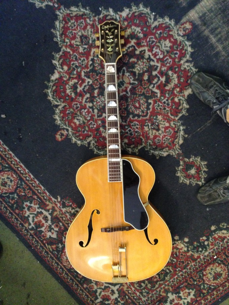 1947 Epiphone Deluxe spectacular woods, all carved, 3200