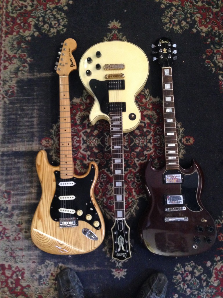 Pre-lawsuit Ibanez Strat, SG, LP Custom, 800, 600, 600 respectively