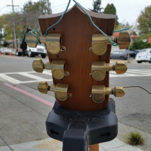 60's Kay X braced dreadnought like Elmo James guitar - solid  spruce. Reset w pin bridge $400