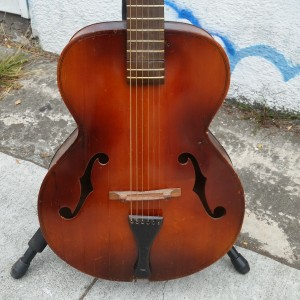 "Weird 17"" Cello-Guitar scroll head 1940's"