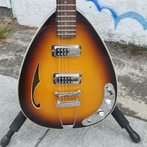 Subway creation Vox style with goofy doofus f-hole mini HB pick also basses $375