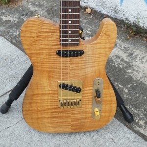 Flame maple tele with dunkmore seman hotrails $700