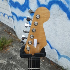 Subway custom strat USA Fender corona body with warmoth ebony/maple neck VHT vintage pickups $700