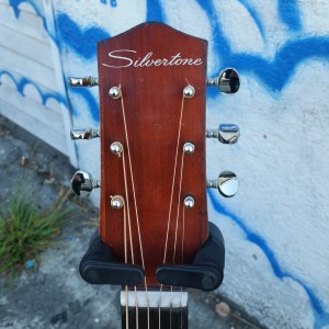 Silvertone harmony ooo Birch pin bridge $300