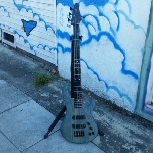 Blue MAB - Modolous, Alembic, Bartelini graphite neck with active electronics  $900