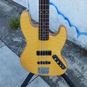 Fancy J-bass incredible plush maple top $700