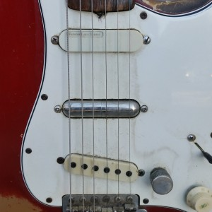 1965 Candy apple red Fender Strat have original pickups + gears