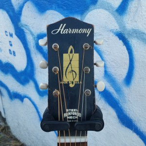 1964 Harmony 000-17 all mahogany pin bridge neck reset $350