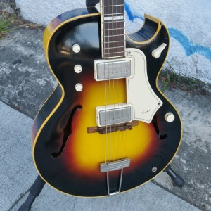 1950's National ES-175 with Gibson body and weird knobs + switch