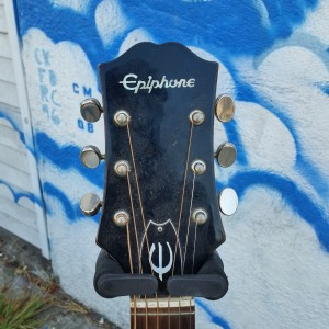 1970 Japanese Epiphone D-18 Bone compressed saddle  with pickups $250