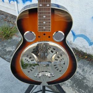 "Square neck resonator lap steal 12 fret ""Dobro Cone"" $250"