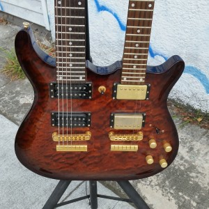 Weird and useless fancy 6 sting and 7 string double neck could be 6 string and 12 string $600
